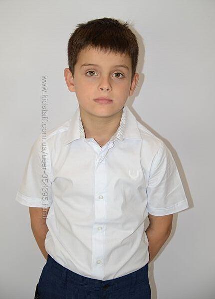 Класична рубашка з коротким рукавом - 116-134 РОЗМІР