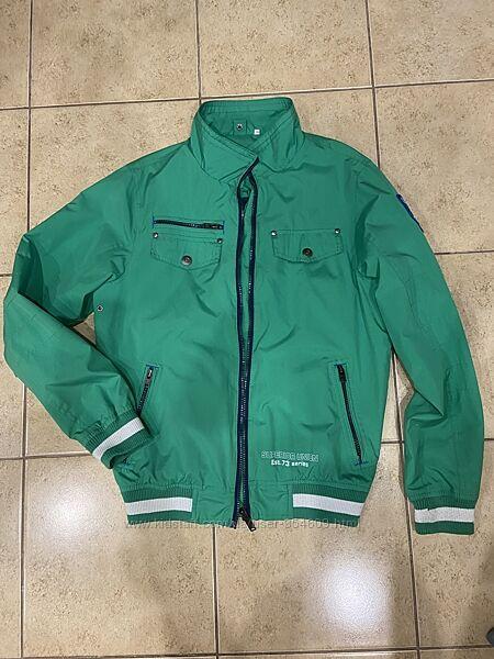 Двойная куртка ветровка олимпийка на подростка