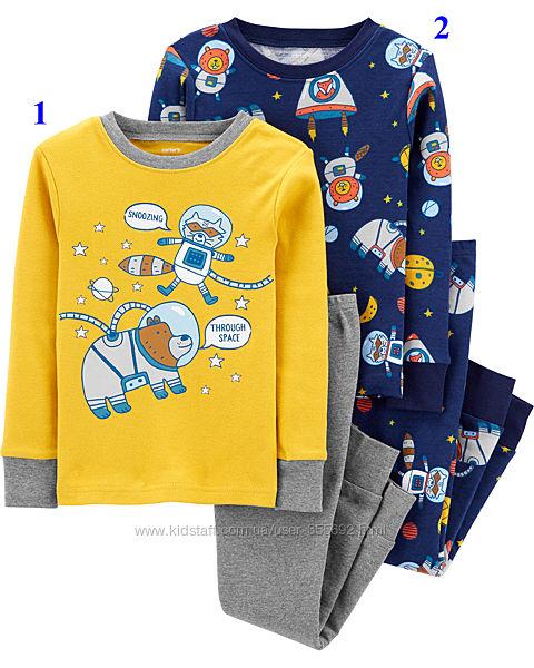 Пижама хлопковая Carters, 2Т, жёлтая