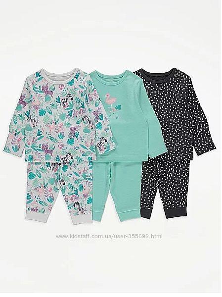 Пижамы хлопковые George, 12-18мес, 18-24мес, 2-3 года.