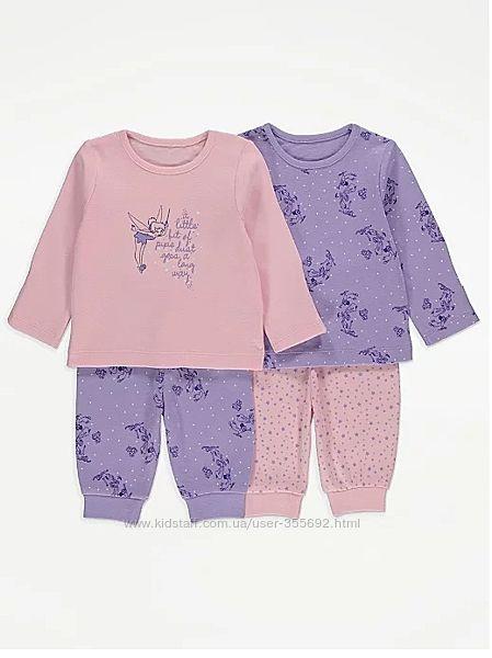 Пижамы хлопковые George, 12-18мес, 2-3 года.
