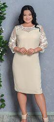 Красивое элегантное платье, размеры 48-60