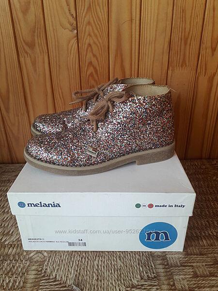 Демисезонные ботинки для девочки размер 34