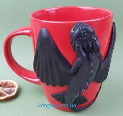 Кружки, чашки с декором ручной работы. Подарки Хендмейд из полмерной глины