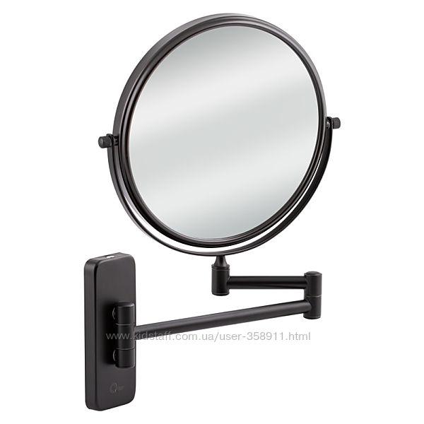 Настеннное косметическое зеркало двухстороннее c 3-х кратным увеличением