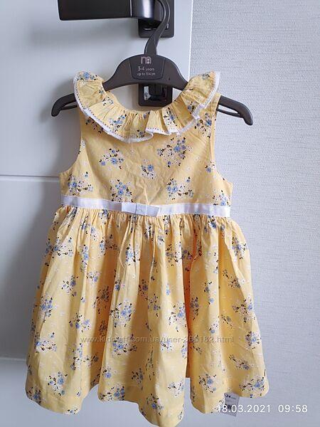 Платье летнее mothercare 1.5 -2 года