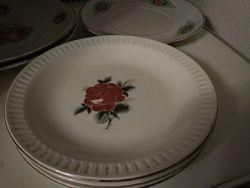 Белое большое плоское блюдо для сервировки