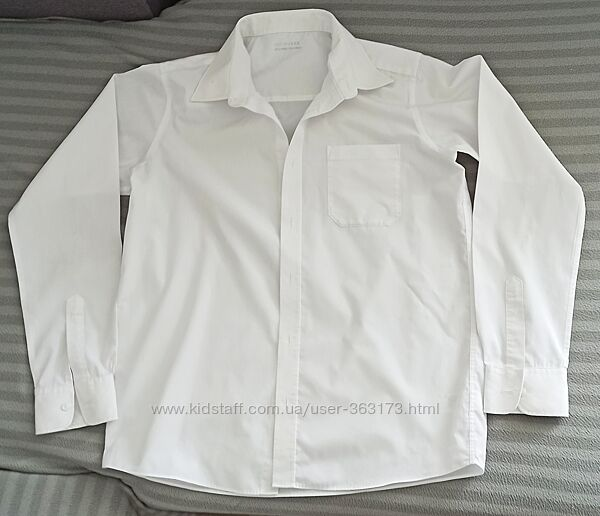 Рубашка 14-15 лет Mark & Spenser Easy Iron лёгкая глажка M&S Марк Спен