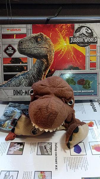 Коллекция Динозавров с книгой и игрушкой на руку Dino mix Варус