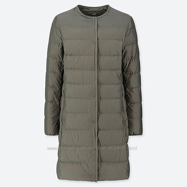 Ультралегкое пуховое пальто uniqlo, оригинал, р. М