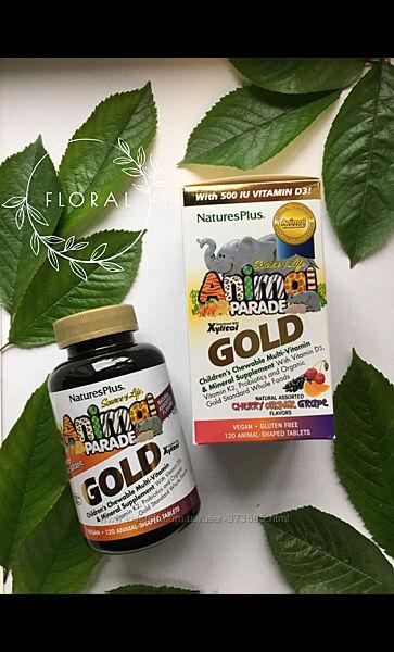 Мультивитамины для детей Natures  Plus, Парад зверей Gold 120 таблеток