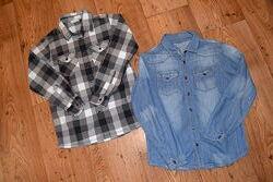 Рубашки Yigga из хлопка. Рост 134-140.