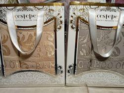 полотенца бамбук Ozkurt Турция набор 50х90 см и 70х140 см в коробке