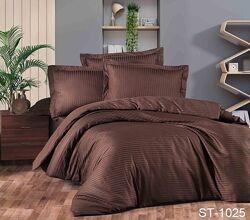 Роскошное постельное белье из турецкого страйп сатина 100 хлопок с бортик