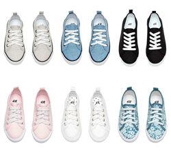 Слипоны, кеды брендовые H&M в ассортименте на мальчиков и девочек.