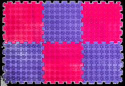 Акупунктурный массажный коврик Лотос 9 элементов профилактика боли в мышцах