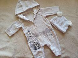 Комбинезон - человечек на мальчика 0-3 месяца