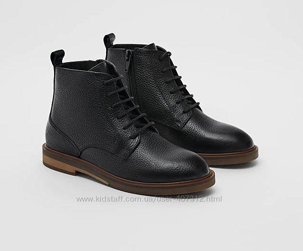 Кожаные ботинки ZARA. Размеры 32-40