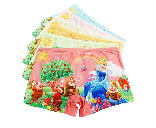 Трусики шортики для девочки Пони, Фроузен, Минни, Принцессы, Китти, Белоснежка