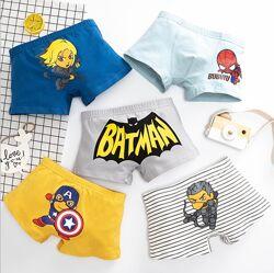 Детские трусики боксеры для мальчика Мини Супергерои набор 5шт.