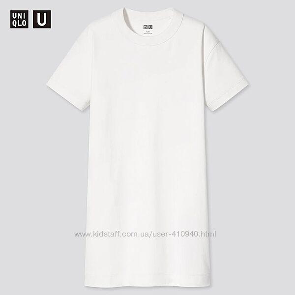 Стильное, базовое платье-футболка из мягкого трикотажа , UNIQLO
