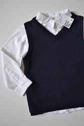 Рубашка  и жилетка Н&М, 8-9 р