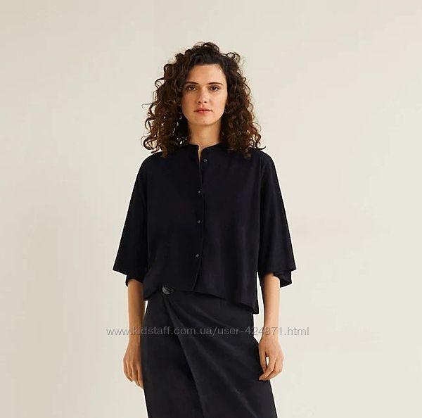 замшевая черная женская рубашка, блузка оверсайз s-xxxl mango оригинал