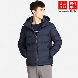 мужская куртка, парка, пуховик непромокаемая с капюшоном Uniqlo m оригинал