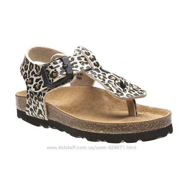 Босоножки леопардовые для девочки 30-31 bata оригинал