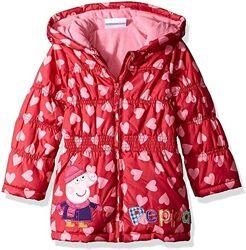 детская красная куртка Свинка Пеппа на девочку 92-98 рост, 3T Peppa pig