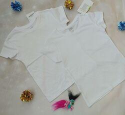 Однотонные белые футболки KIK для деток из Германии по супер-цене
