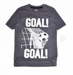 Серая футболка f&f на мальчика 5-6 лет