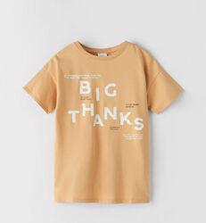 Бежевая футболка Zara на мальчика 9 лет