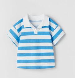 Полосатая футболка поло zara на мальчика