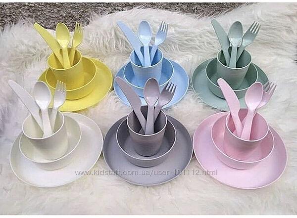 Детская пластиковая посуда KALAS в новых цветах . ИКЕА . В наличии .