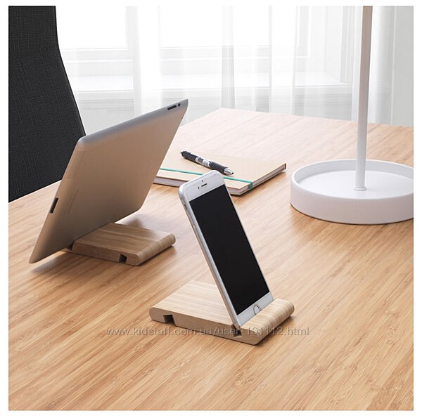 Бамбуковые подставки для телефона / планшета . ИКЕА . В наличии .