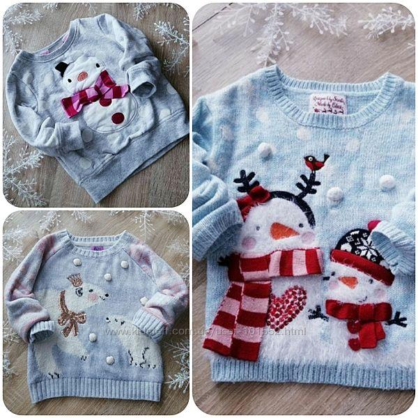 1.5-2 Новогодние свитера Next,  George,  F&F.
