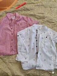 Льняные рубашки Next на мальчика