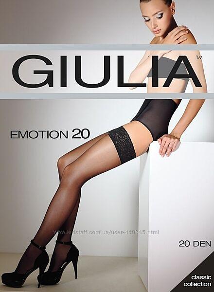 Чулки женские с кружевом на силиконовой резинке Giulia Emotion 20 den