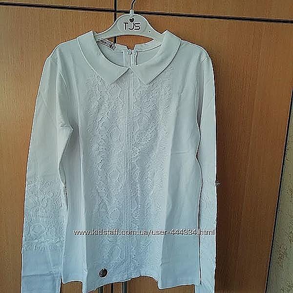 Трикотажная блуза Suzie Нонета белая размер 158