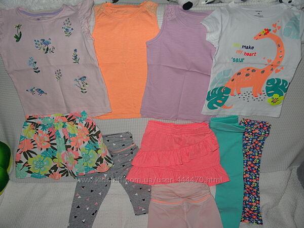 Наша летняя одежда Carters, TU, Mothercare 3-4 года.