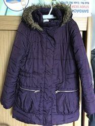 Куртка, пальто, внутри флис, р. 10-11 лет