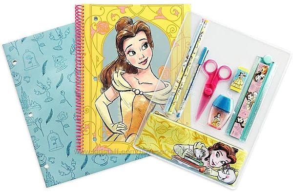 оригинал Disney Princess Канцелярский набор творчества Belle Бель Дисней