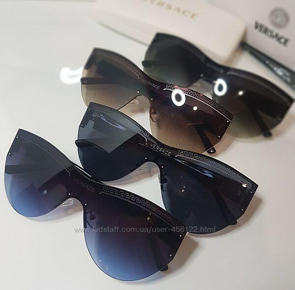 Стильные  безоправные очки- маски Versace -4 цвета . Универсал