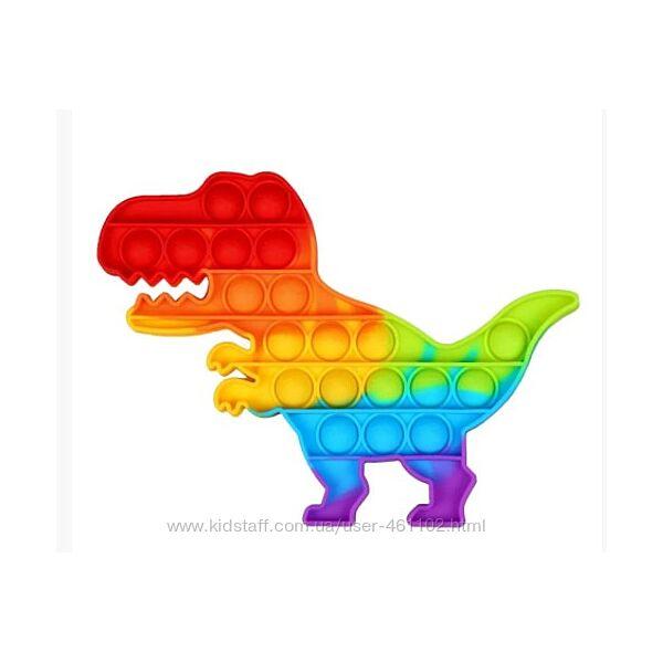 Игрушка Поп ит антистресс вечная пупырка pop It динозавр Рекс
