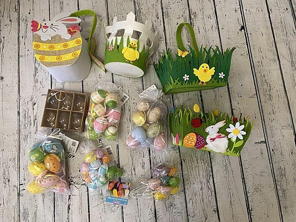 Пасхальный декор Германия разный корзинки яйца
