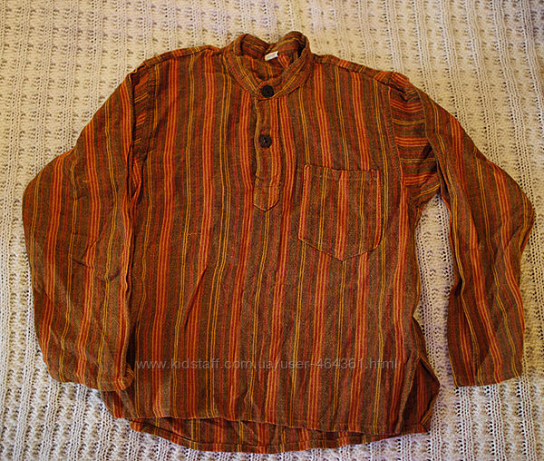 Этно рубашка льняная