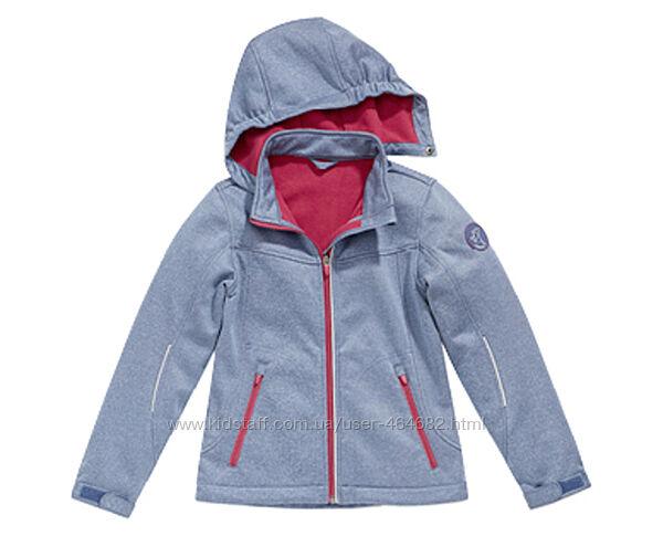 Стильная куртка Softshell, внутри флис, на девочку от Crane.