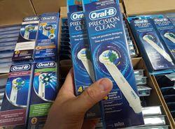 Сменные насадки на электрическую зубную счетку Oral-B Precision clean 8