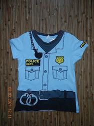 Футболка полицейского H&M 86-92 в идеале